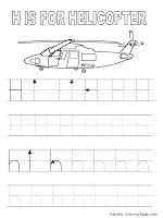 Alphabe Tracer Pages H Helicopter