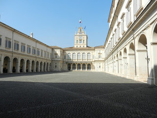The Courtyard at the Palazzo Quirinale in Rome