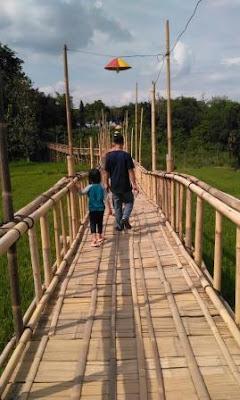 Jembatan Bambu Kampung Flory