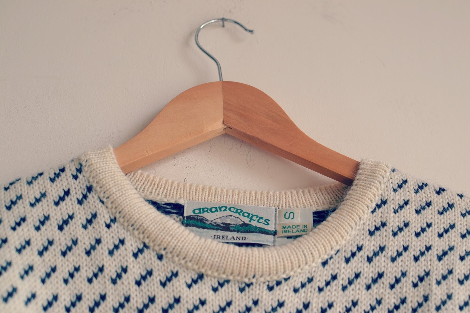 BTR vintage aran knitted jumper