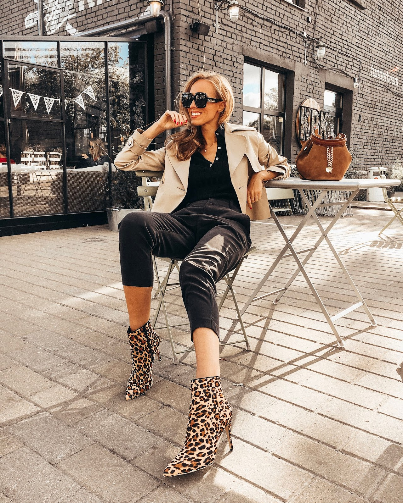 leopard print boots fall outfit