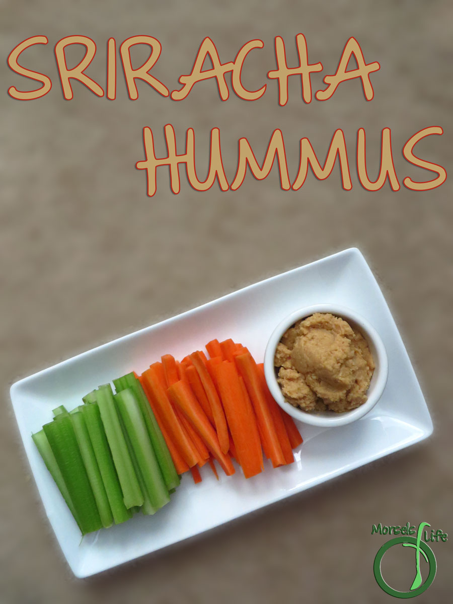Morsels of Life - Sriracha Hummus - Try this Sriracha Hummus - it's like Sriracha in a delicious dippable snack form. Eat it on some veggie sticks or just with a spoon!