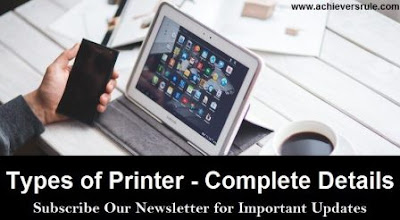 Types of Printers - Complete Notes