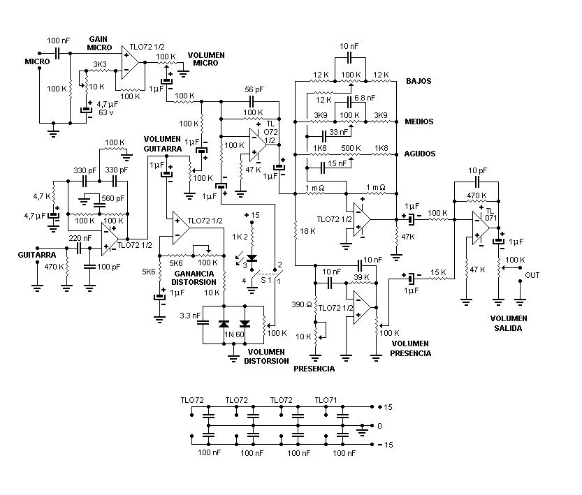 Phaser Pedal Schematic