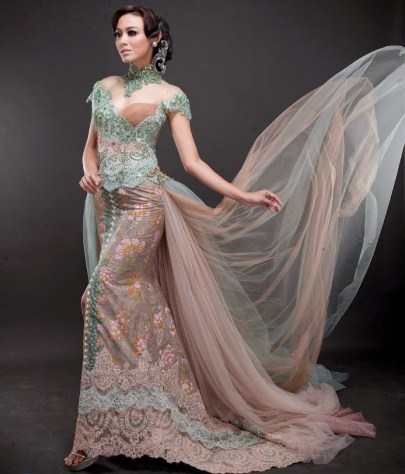 model kebaya pengantin mewah