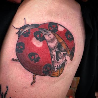 3D Ladybug Tattoo Ideas
