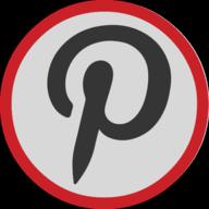pinterest button outline