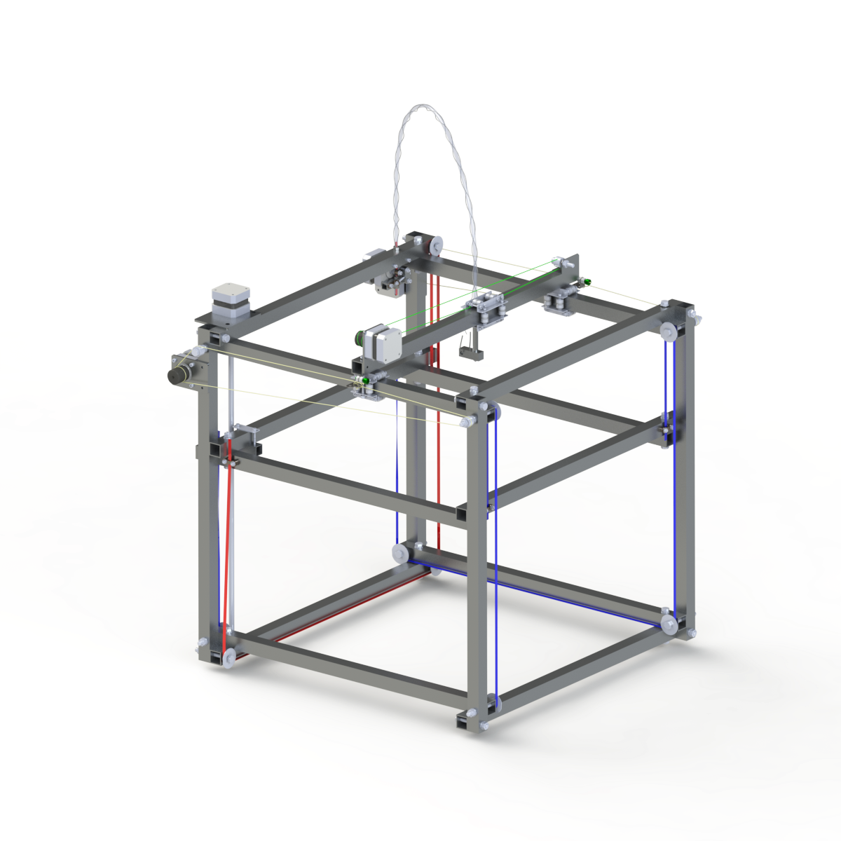 DIY 3D Printing: QuadStrap Low Cost 3d Printer With Large