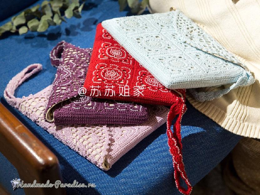 Вязаный клатч. Схемы вязания (13)