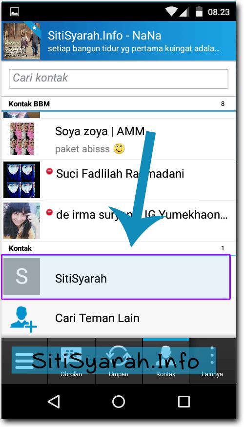 chat tanpa perlu berteman di BBM