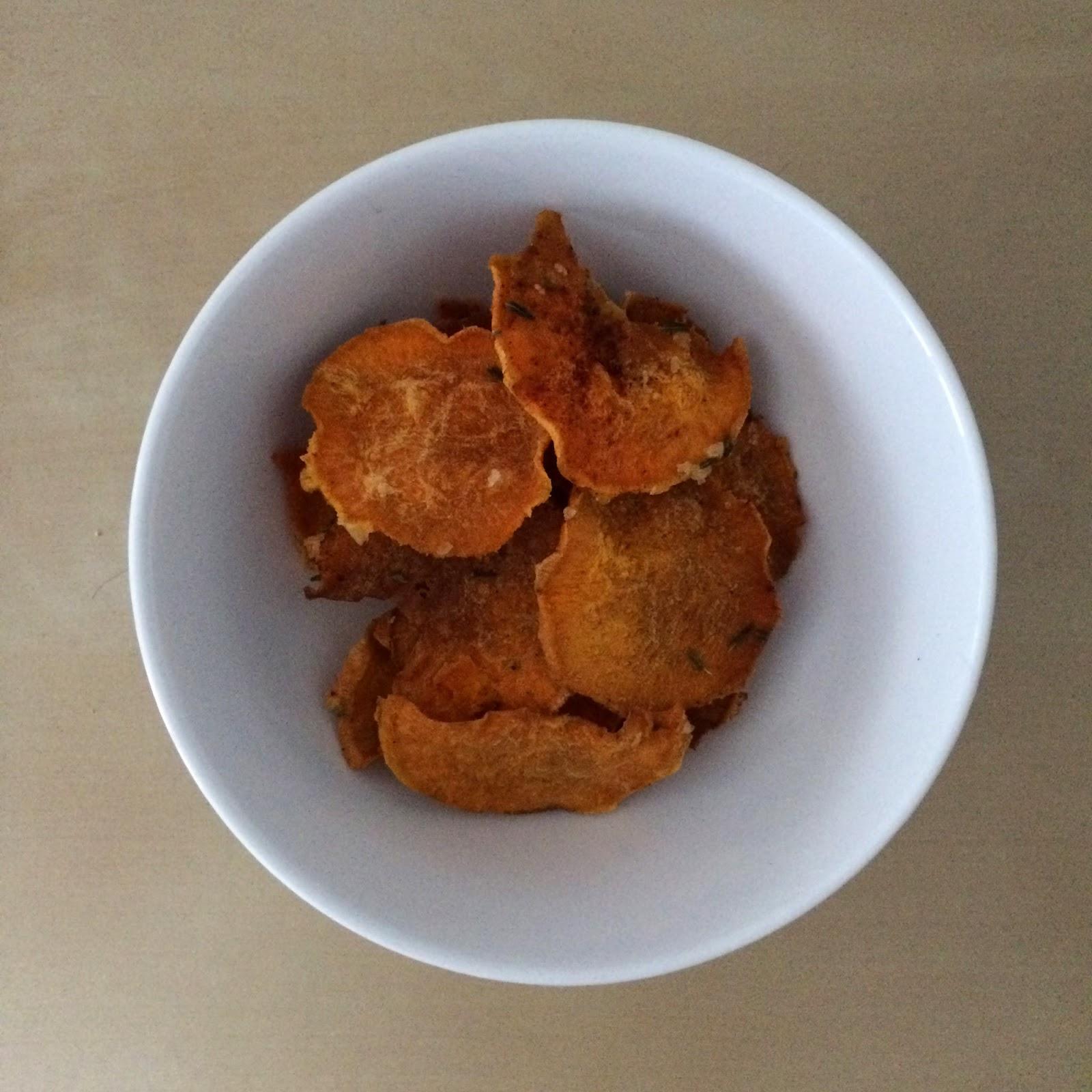 Süßkartoffelchips selbstgemacht