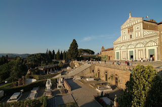 The church of San Miniato al Monte and adjoining cemetery