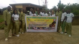 Drug free club in Nysc