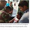 Prajurit TNI AD dari Kompi Kavaleri 5/GCC bersama anggota Polresta Palembang menangkap seorang pengedar sabu