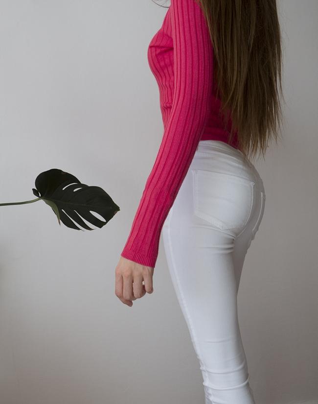 białe spodnie blog