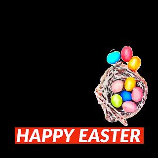 4/5 Designs of Easter eggs Facebook Frames Free Download