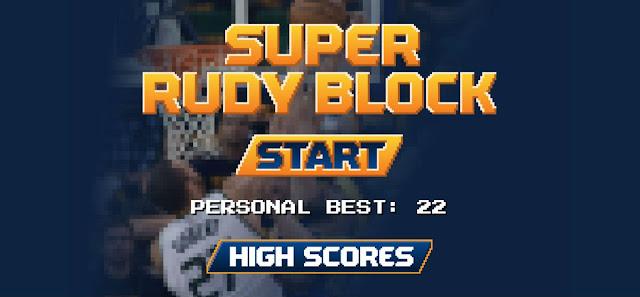 page d'accueil du jeu vidéo super rudy block