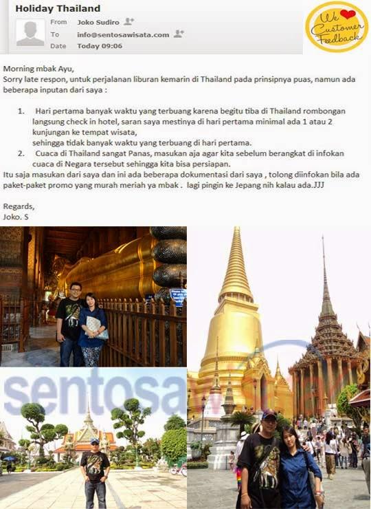 Testimoni Tour Bangkok Pattaya Joko