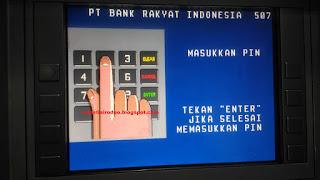 cara aman ambil uang dari ATM BRI lanjutkan mang
