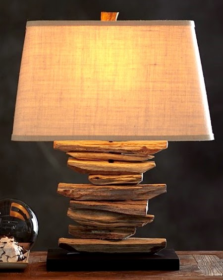 Pottery Barn Driftwood Lamp