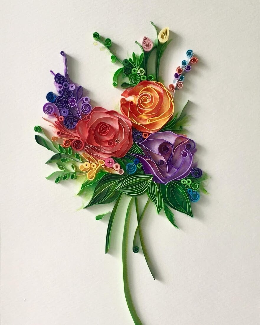 08-Bouquet-of-Flowers-Wing-Paper-Quilling-Art-Designs-www-designstack-co