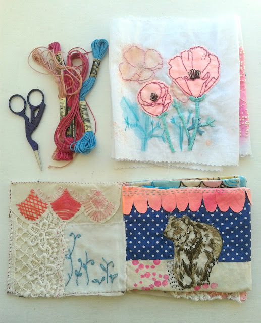 Jenny Blair, sketchbooks, handmade books, bookbinding, embroidery, fabric collage