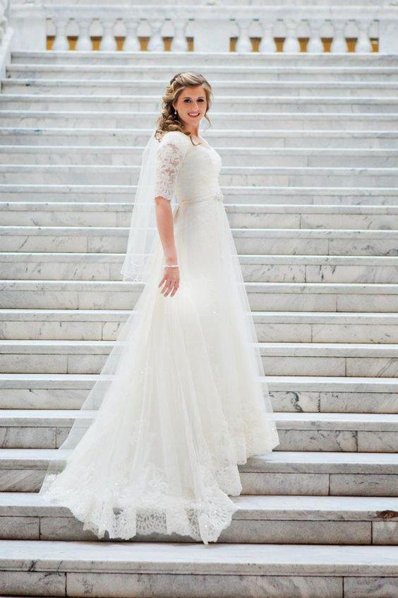 abito da sposa mezza manica