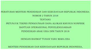Juknis DAK Non Fisik BOP PAUD 2018