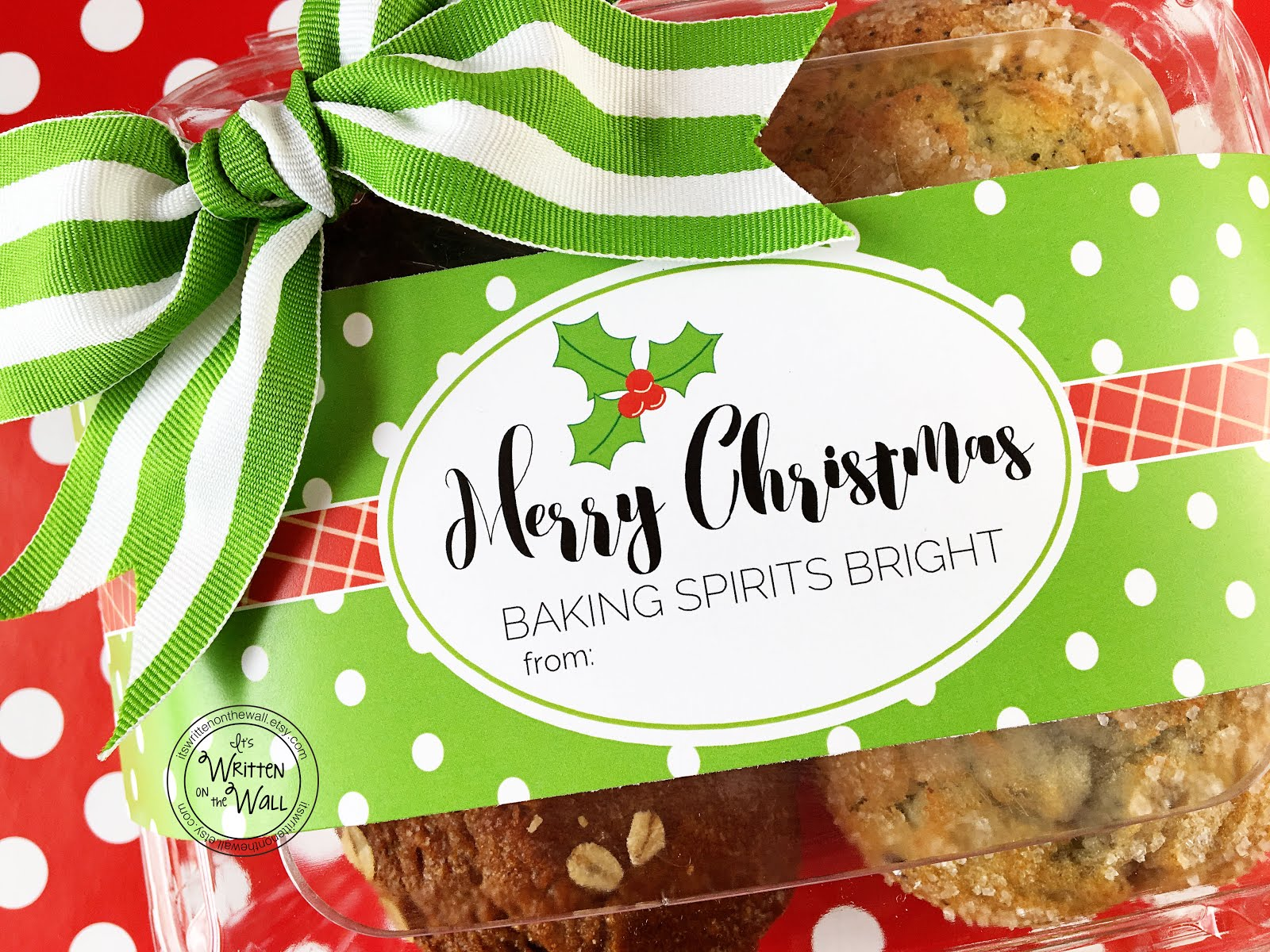 Baking Spirits Bright Food Tags