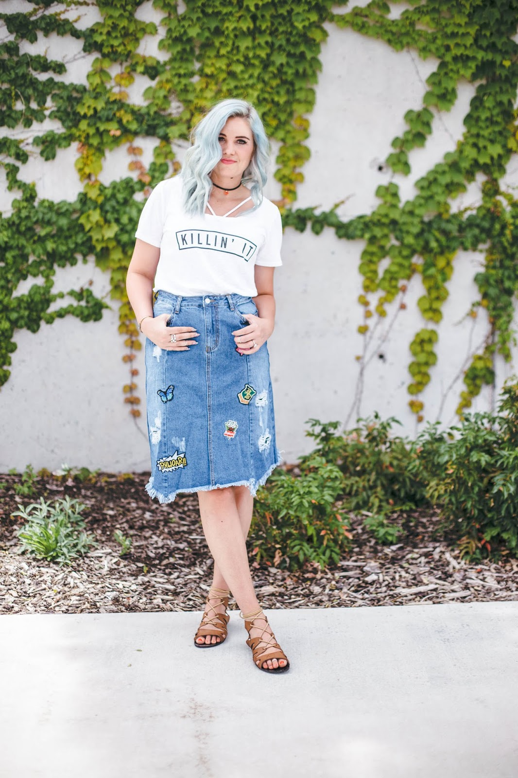 Utah Fashion Blogger, Choker, Modest Outfit