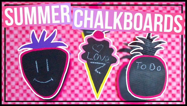 Summer Food Shaped Chalkboards