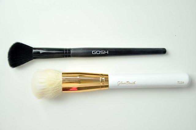 pędzle do twarzy glambrush t116, gosh contour brush 013