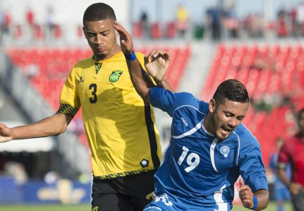 Partido entre la selección de Jamaica y El Salvador en la Copa de Oro 2015