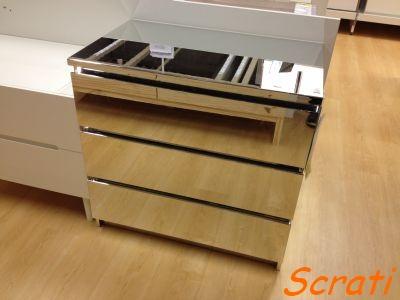scrati ikea kommode malm limited edition mit spiegeleffekt. Black Bedroom Furniture Sets. Home Design Ideas