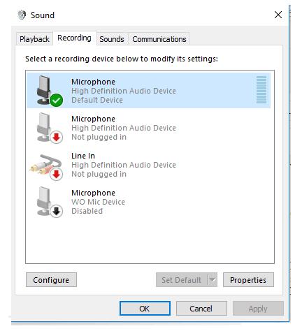 Mengaktifkan mic di laptop