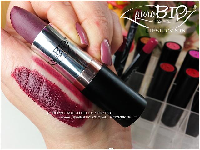 swatches, matita n 39 ,  lipstick n 05 ,  rossetti purobio , lipstick, vegan makeup, bio makeup