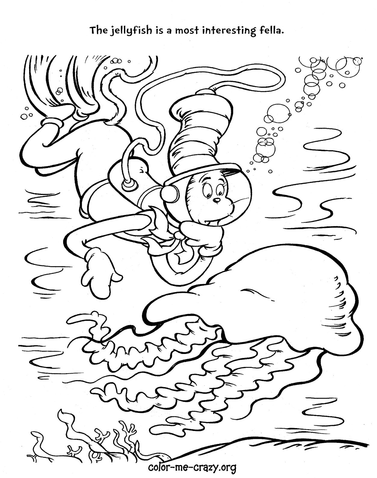 free coloring pages cat in the hat cooloring com