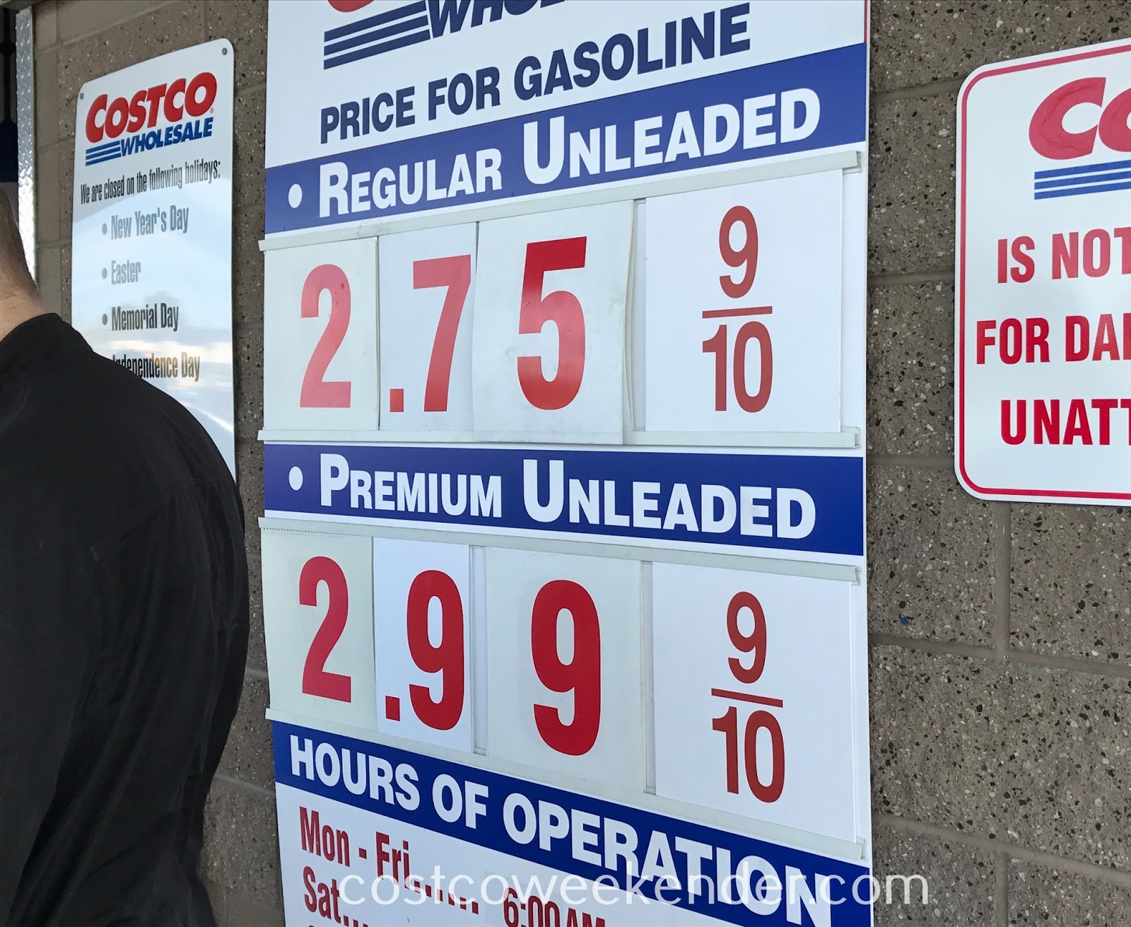 Costco gas for April 23, 2017 at Redwood City, CA
