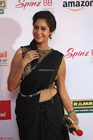 Sindhu looks fabulous in Black Saree designer choli at Mirchi Music Awards South 2017 ~  Exclusive Celebrities Galleries 008.JPG