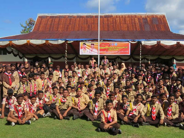 Bambang Sugiyarta Pimpin Upacara HUT Pramuka ke 57 di Ternate