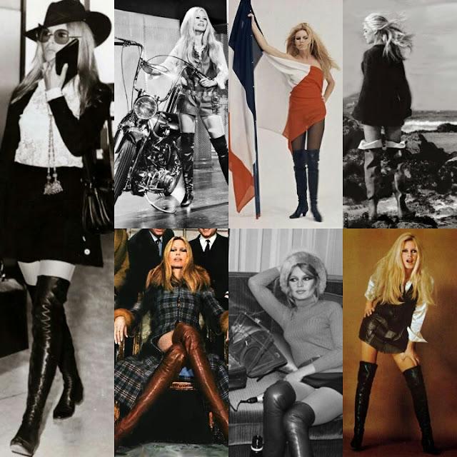 Brigitte Bardot en cuissardes
