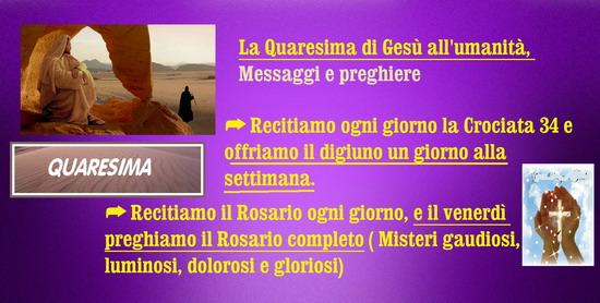 ❀*`*• La Quaresima di Gesù all'umanità, Messaggi e preghiere