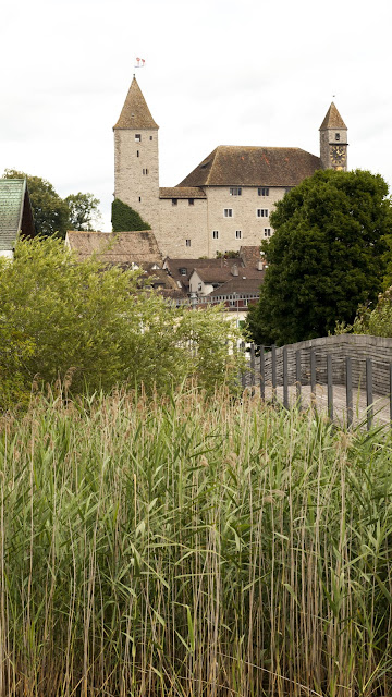 Rapperswil Castle viewed from the wooden boardwalk on a half-day trip from Zurich