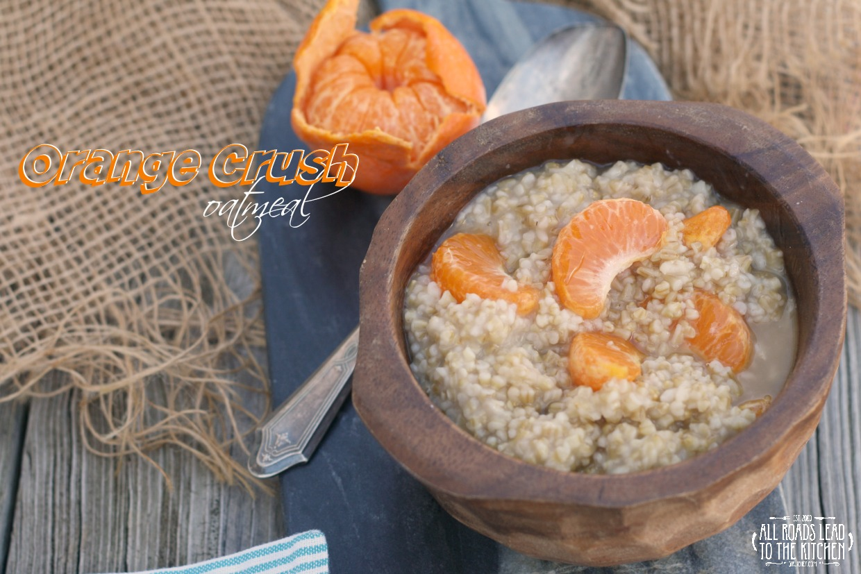 Orange Crush Oatmeal (for Denise) inspired by The Walking Dead