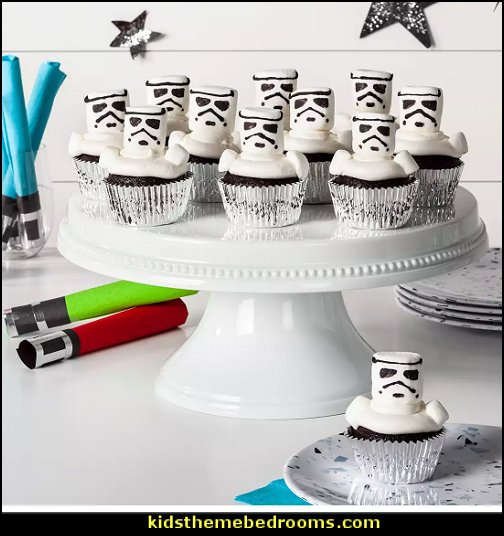 Stormtrooper cupcakes Star Wars party decorations  - Star Wars party decor - star wars party decorating - Star Wars party supplies -  Star Wars party props - star wars life size standees - star wars costumes - outer space party decorations - star wars props - galaxy table decorating props