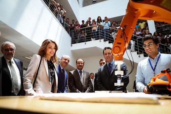 Queen Rania of Jordan visited the German Jordanian University's (GJU) Madaba Campus