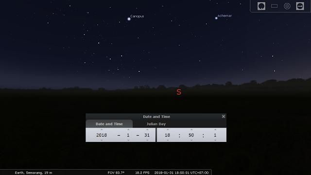 Simulasi gerhana stellarium