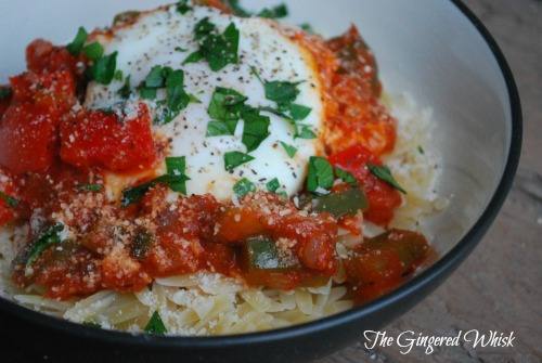 Poached Eggs in Marinara - a quick meatless weeknight meal