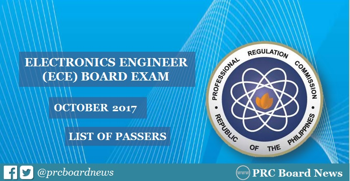 OFFICIAL RESULTS: October 2017 ECE board exam list of passers