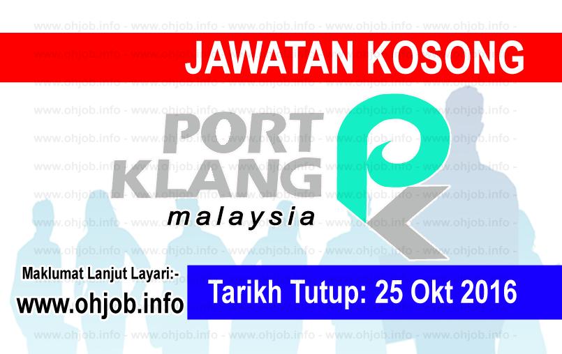 Jawatan Kerja Kosong Lembaga Pelabuhan Kelang (PKA) logo www.ohjob.info oktober 2016